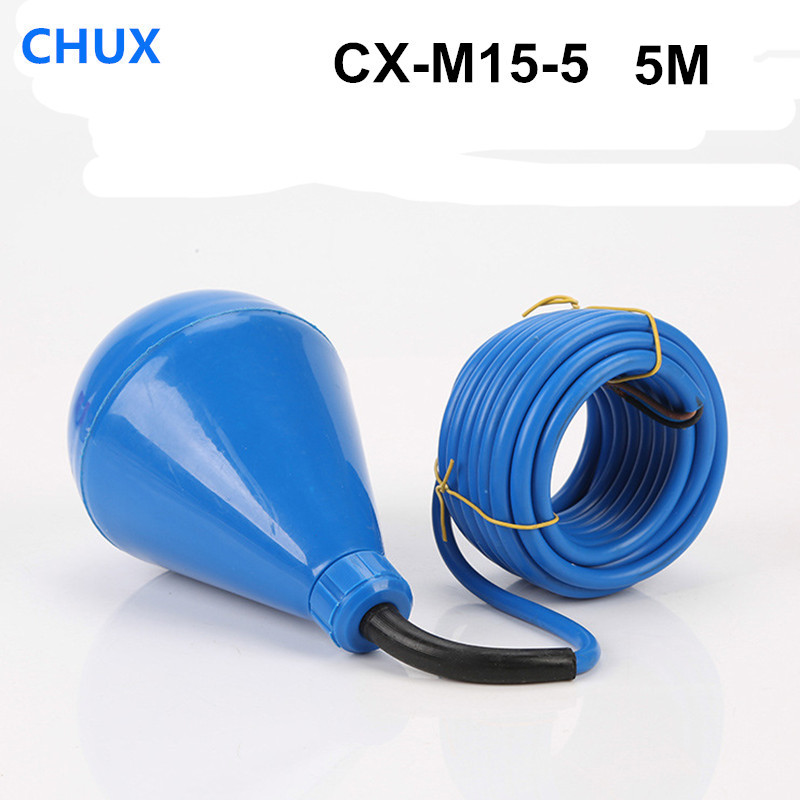 Interrupteur à flotteur 5 m Type de câble contrôleur de niveau d'eau liquide à bille pour capteurs de débit de M15-5 de réservoir