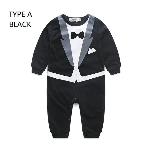 e3869edf6 hy030 kimocat S Baby Gentleman Rompers Children Cotton Long Sleeve Clothing  O-Neck Kids Jumpsuits Newborn Clothes 0-3 Years