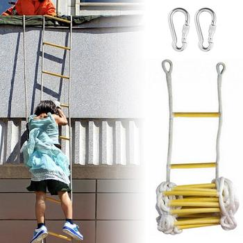 5M Rope Ladder Soft Rescue Escape Ladder Emergency Work Safety Response Fire Rescue Rock Climbing Engineering Ladder