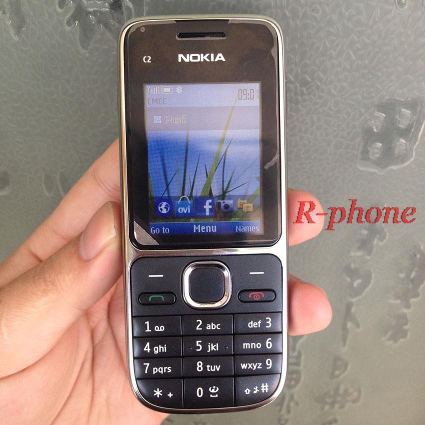 Nokia C2 C2-01 разблокированный GSM мобильный телефон восстановленные сотовые телефоны - Цвет: black English Keybad