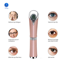 Beauty Care Eye Massager High Frequency Vibration Ionic Facial Infusion Device Eye Wrinkle Remover Relieves Dark Circles Tinwong beauty salon home care ionic eye anti wrinkle heating eye massager led photon therapy beauty devices free shipping