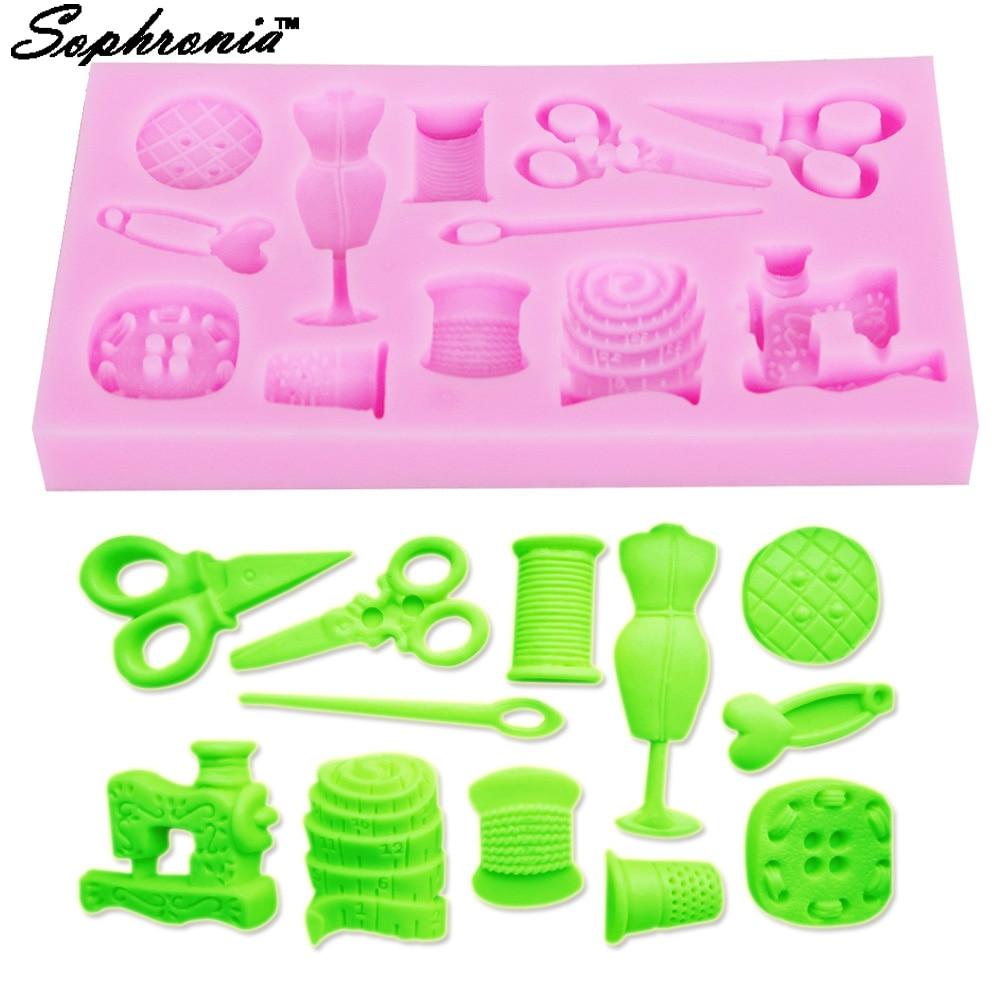 Sophronia M347 инструмент для торта, 1 шт., Ножничные кнопки, швейная Дизайнерская одежда, силиконовая форма для свадебного торта, кайма для мастики...