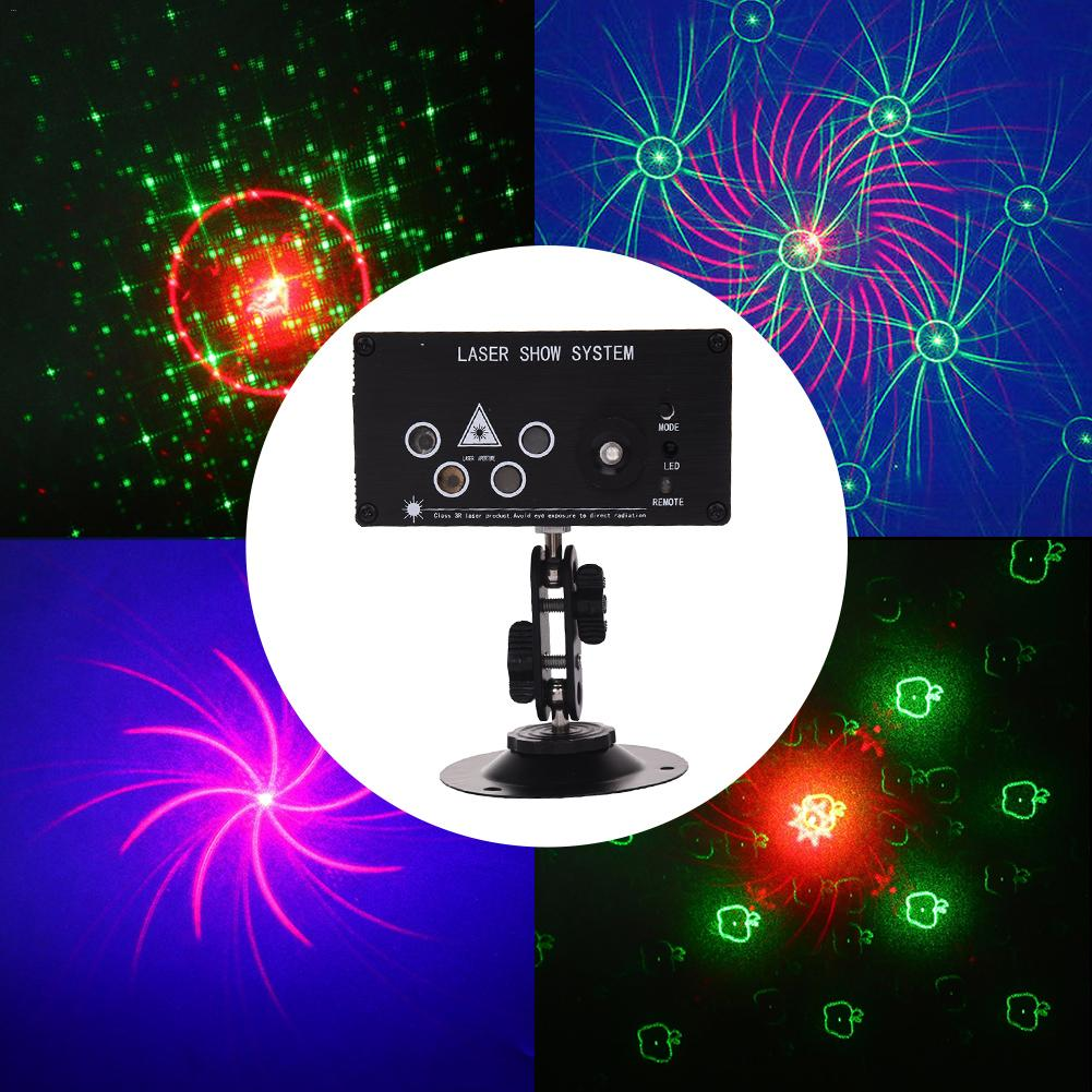 DJ Laser Stage Light 5 Lens LED Stage Laser Light 4-Hole Laser 96 In One LED Stage Effect Lighting For Disco Light Xmas Party стайлер philips hp8321 00