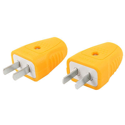 цена на 2 Pcs AC 250V 16A Rotating Pins Power Adapter Connector US AU Plug