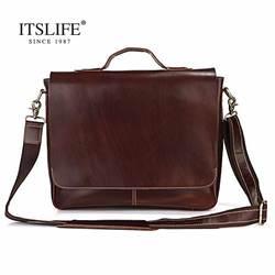 Новый Для мужчин S 100% Пояса из натуральной кожи сумка для Для мужчин темно-коричневый Мужские Портфели Портфель Сумочка Кожа Сумка # 7108r