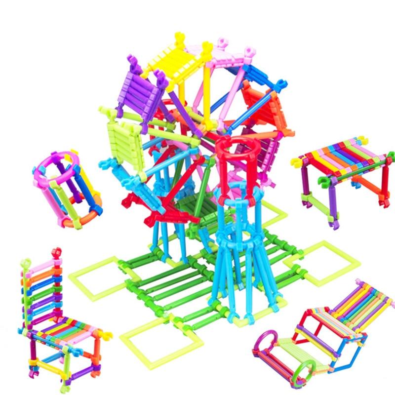 850 Unids / set Baby Kids Plastic Intelligence Sticks Bloques de - Juguetes de construcción