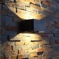 Уличный современный настенный светильник  12 Вт  светодиодные светильники для крыльца  водонепроницаемый бра  алюминиевые настенные светил...
