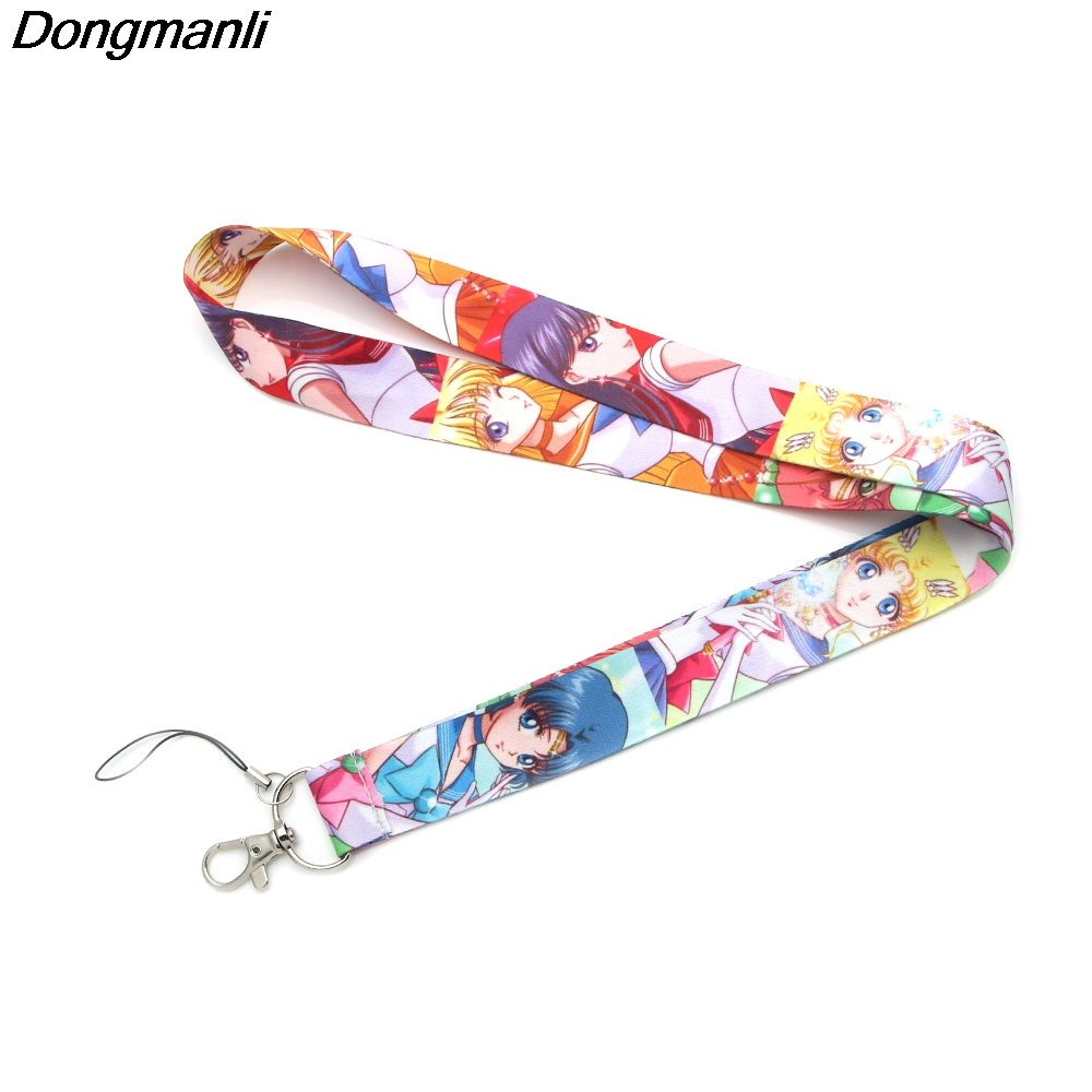 lot New Sailor Moon Straps Lanyard ID Badge Holders Mobile Neck Key chai