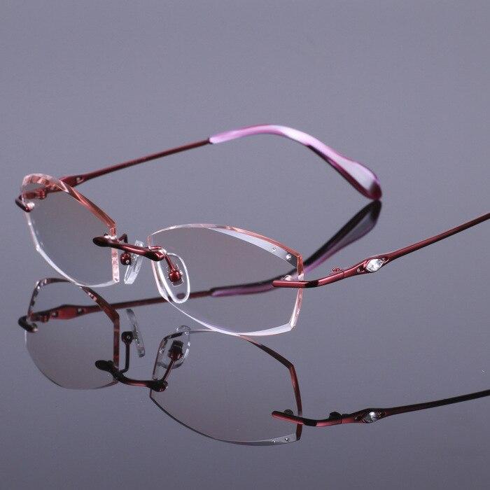 Brillen Rahmen Diamant Schneiden Damen Abschnitt Titan Spektakel ...