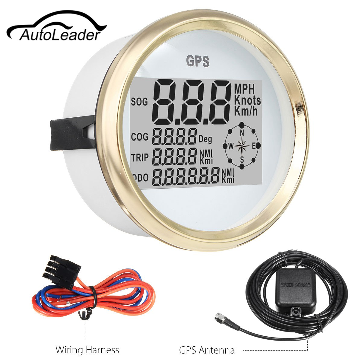 Autoleader 300KM/H GPS Speedometer Waterproof Digital Gauge for Auto Car Truck Marine 9~32V 1pc 0 130km h gps speedometers 85mm speed milometers 0 80mph odometers 9 32v for auto with gps antenna and backlight
