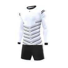 font b Football b font Uniform Long Sleeves Breathable Men s Youth Soccer Jerseys Kit