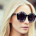 Новая мода Брендовая дизайнерская обувь смешные негабаритных круглые солнцезащитные очки унисекс Cross My Heart солнцезащитные очки House Of Holland дом панк солнцезащитные очки - фото