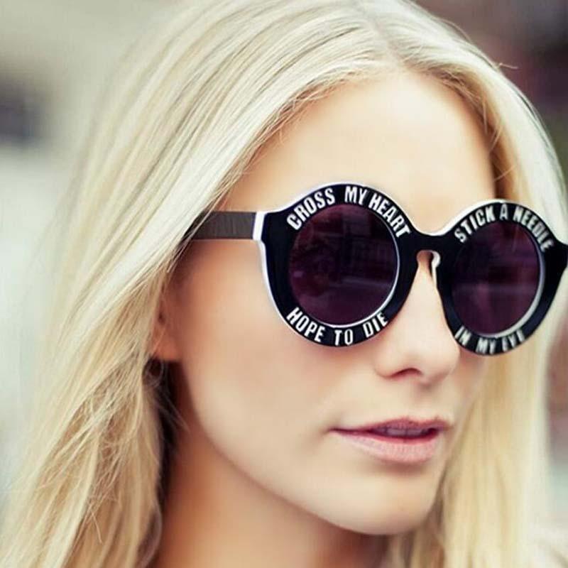 New Fashion Brand Designer Funny Oversized Round Sunglasses