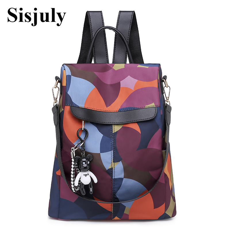 Sisjuly Fashion Anti Theft Backpack Women Waterproof Oxford Bagpack Female Contrast Color Back Pack School Bag for Teenager GirlSisjuly Fashion Anti Theft Backpack Women Waterproof Oxford Bagpack Female Contrast Color Back Pack School Bag for Teenager Girl