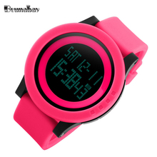 Bounabay 2017 waterproof wrist digital automatic watches for women digitais watch running ladies clock digitales shock