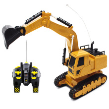 цена на 2.4Ghz Electric Rc Truck Crawler Excavator Engineering Vehicles Model Remote Control Car Boys Toy For Kids Gifts