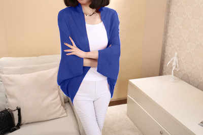 Uwback 2018 New Brand Winter Cashmere Sweater Women Red Cardigan Femme Shrug Sweaters Mujer Batwing Sleeve OB031