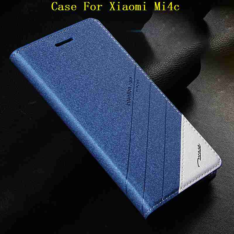 imágenes para 5 Colores Para Xiaomi M4C Mi4C Mi 4C Soporte Del Tirón Del Cuero Imán de la cubierta Del Caso Para Xiaomi Mi4c Original Tscase Marca las Cajas Del Teléfono