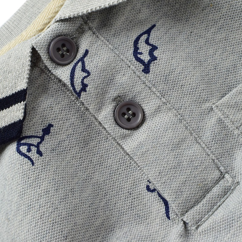Summer New Dinosaur Boys T-shirts Cotton Kids Tops Sports Tee Turn-down Collar Boys Polo Shirts 2-7Y Childrens Clothing
