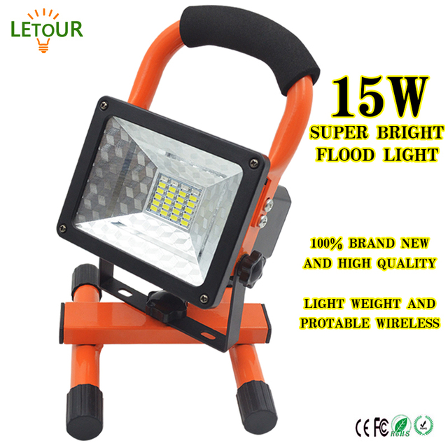 Floodlight led spotlight outdoor lighting 15w portable warning light floodlight led spotlight outdoor lighting 15w portable warning light 3 dimmer 1800 lumens rechargeable with car aloadofball Images