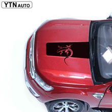 free shipping 1 PC salamander tuning lizard tribal cool hood bonnet Gradient side stripe graphic Vinyl sticker