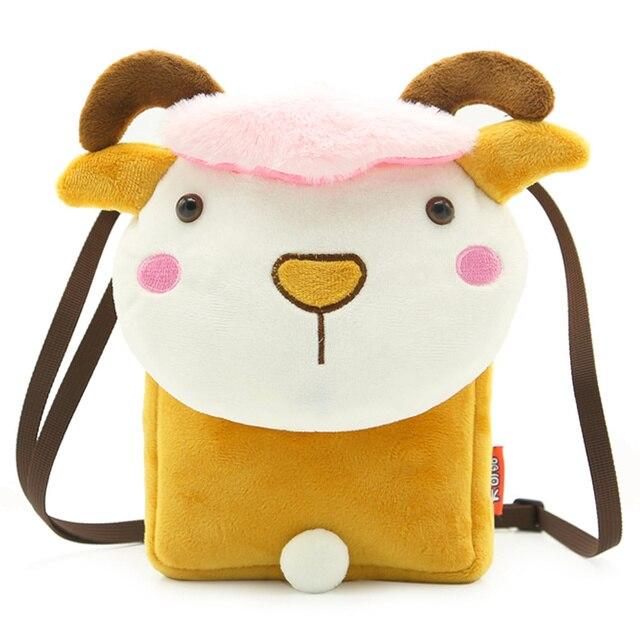 11177190e4e3 Cute Kids School Bag Soft Plush Fabric Cartoon Sheep Design For Baby Boys  Girls Crossbody Shoulder Bag Children Messenger Bag