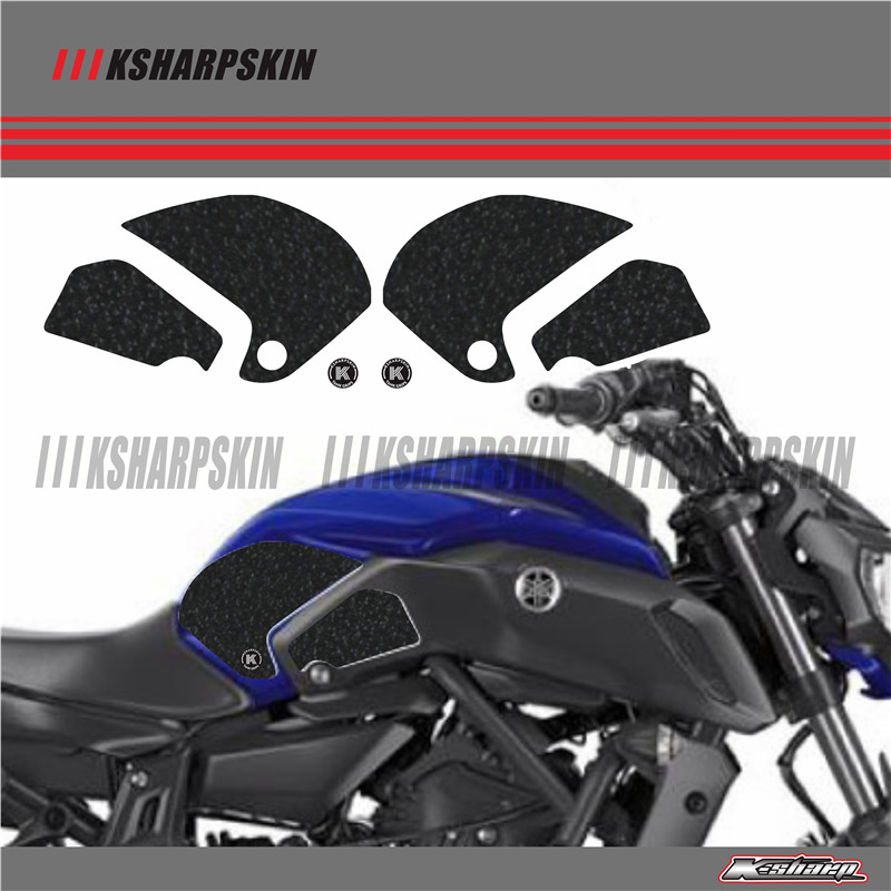 ADESIVI 3D Sticker Decal Emblem Protector Tank Pad Tank grip For HONDA 2018 MT 07 MT07