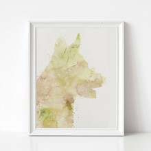 German Shepherd Abstract Watercolor Art Canvas Poster Painting Large Pet Dog Wall Picture Print Home Room Decoration(China)