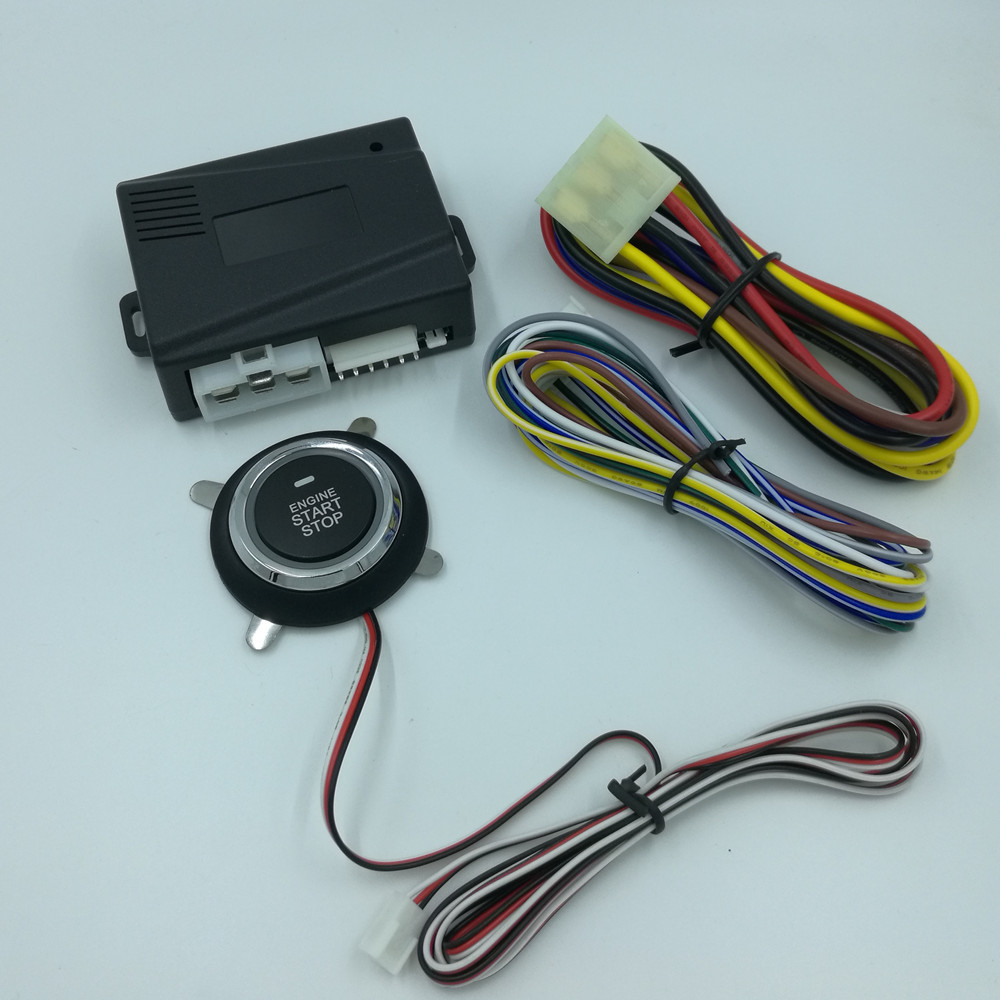 Offre spéciale système d'alarme de voiture automatique sans clé entrée moteur de voiture construit à distance verrouillage Central fonction de démarrage bouton poussoir PKE démarrage arrêt - 2