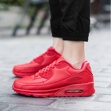 Leather Casual Shoes Comfortable Breathable Lace Up Flats Sport Women Shoes Air Outdoor Walking Lovers Shoes Zapatillas Mujer