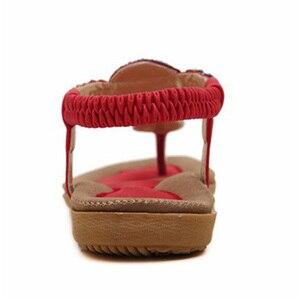 Image 3 - BEYARNE חדש קיץ סנדלים שטוחים גבירותיי קיץ בוהמיה חוף כפכפים נעלי נשים Scarpe דונה Zapatos Mujer Sandalias