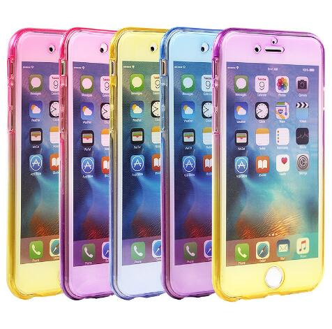 50pcs For Note8 S8 Plus 2017 A3 A5 A7 J3 J7 360 Full Body TPU Case for iPhone X 8 7 6 6S 5 5S Transparent Touch screen Cover