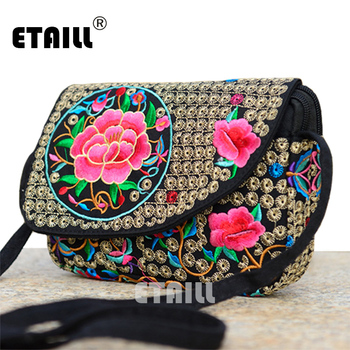Ethnic Indian Embroidered Small Sling Shoulder Bag Handmade Fabric Embroidery Crossbody Bags Luxury Brand Messenger Bag 1