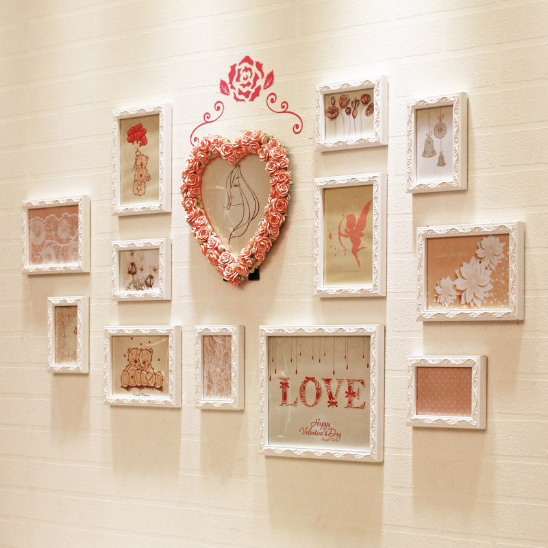kingart large wooden photo frame wall decorative picture frame home hanging kid room photo frame