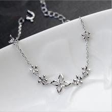 Everoyal New Arrival Flower Bracelets For Women Jewelry Trendy Silver 925 Girl Accessories Female Valentines Day