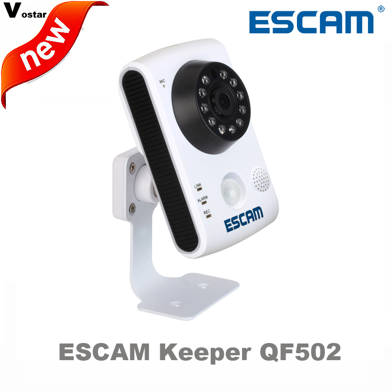 Escam Keeper QF502 Wifi Mini Household IP Camera 1.0MP HD 720P Onvif P2P indoor Surveillance Night Vision Security CCTV Camera wifi ipc 720p 1280 720p household camera onvif with allbrand camera free shipping