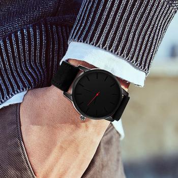 Relogio Masculino zegarek męski moda skórzany zegarek kwarcowy Casual sport zegarki mężczyźni luksusowy zegarek na rękę Hombre godzina mężczyzna zegar tanie i dobre opinie SOXY Moda casual Klamra Nie wodoodporne QUARTZ STAINLESS STEEL 25 5cm Szkło 10mm 22mm ROUND Kwarcowe Zegarki Na Rękę