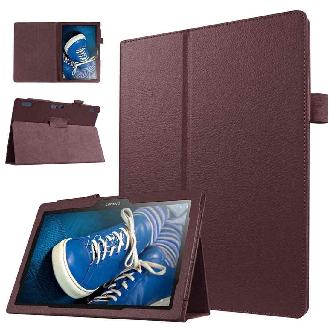 Flip Pu kılıf için Lenovo Tab 2 A10-30 akıllı kılıf kapak standı kılıf için Lenovo Tab 2 A10-70 TB2-X30F TB2-X30L funda deri çapa