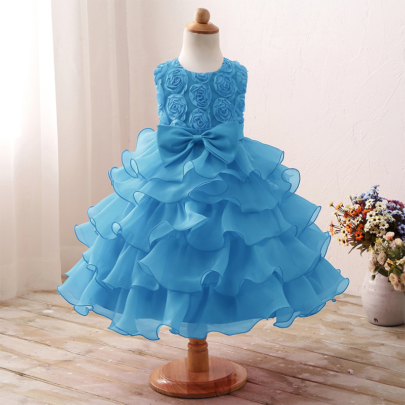 6 Colors in stock! sleeveless Dress kids girls dresses wedding dress ...
