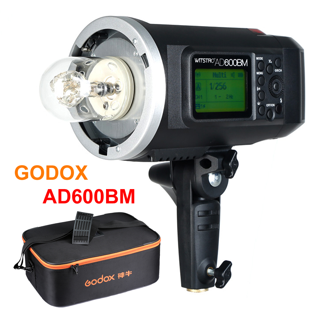 Godox Wistro AD600BM Bowens Mount 600W GN87 HSS 1/8000s Sync Outdoor Flash With 2.4G Wireless X System Build-in 8700mAh Battery godox ad600bm 600w hss gn87 bowens mount flash light or ad600bm x1t c transmitter trigger for canon