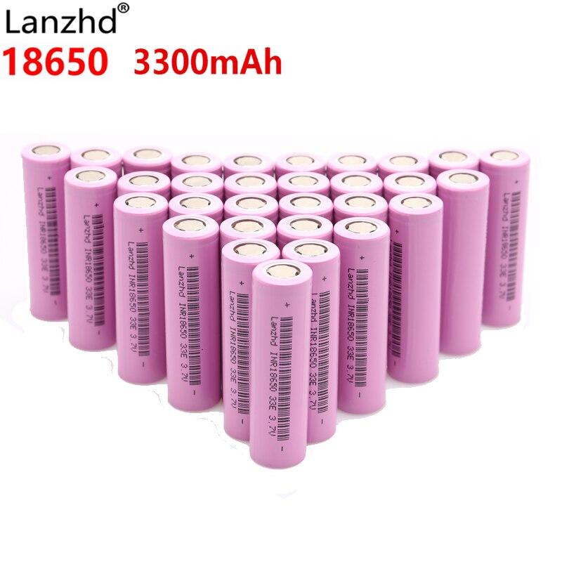 Para samsung 18650 INR18650 baterias 3300 mah 3.7 v baterias Recarregáveis de iões de lítio Li ion 18650 30a atual grande 18650VTC7