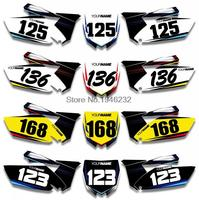 NICECNC Custom Number Plate Background Graphics Sticker & Decal For Yamaha YZ250F YZF250 2010 2011 2012 2013 YZ 250F YZF 250