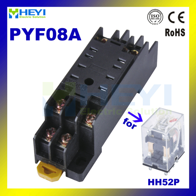 Brand new 20pcs PYF08A relay socket used for MY2HH52P relays 8pin