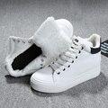 2016 Mulheres Da Moda Botas de Neve de Inverno manter Botas Quentes bota de Neve De Pelúcia Tornozelo Sapatos de Trabalho Botas de Neve Ao Ar Livre das Mulheres 35-37