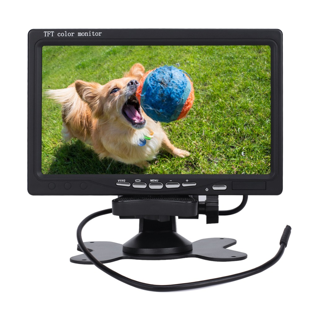 7 inch 16:9 Car TFT LCD Analog TV Stand Alone Monitor Digital Car Rear view Monitor LCD monitor
