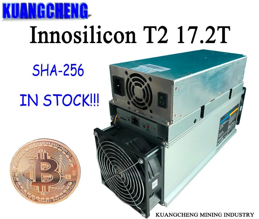 KUANGCHENG продать Innosilicon T2 17,2 т ASIC шахтер dragonmint T2 БТД горной машины 10nm sha256 Шахтер лучше чем Antminer S9