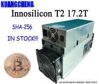 Usado innosilicon t2 17.2th/s com psu asic btc bitcion mineiro melhor do que whatsminer m3x m20s antminer s9 t17 s17 s17e s17 +