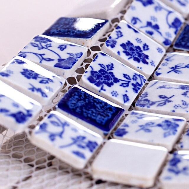 Polished Porcelain Mosaic Tiles Backsplash Hmc1010 Ceramic Mosaic