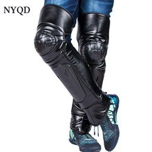 High quality style knee protector Motorcycle electric Thickening Leather Kneepad Winter warm windproof Riding knee pads HX034 цена 2017