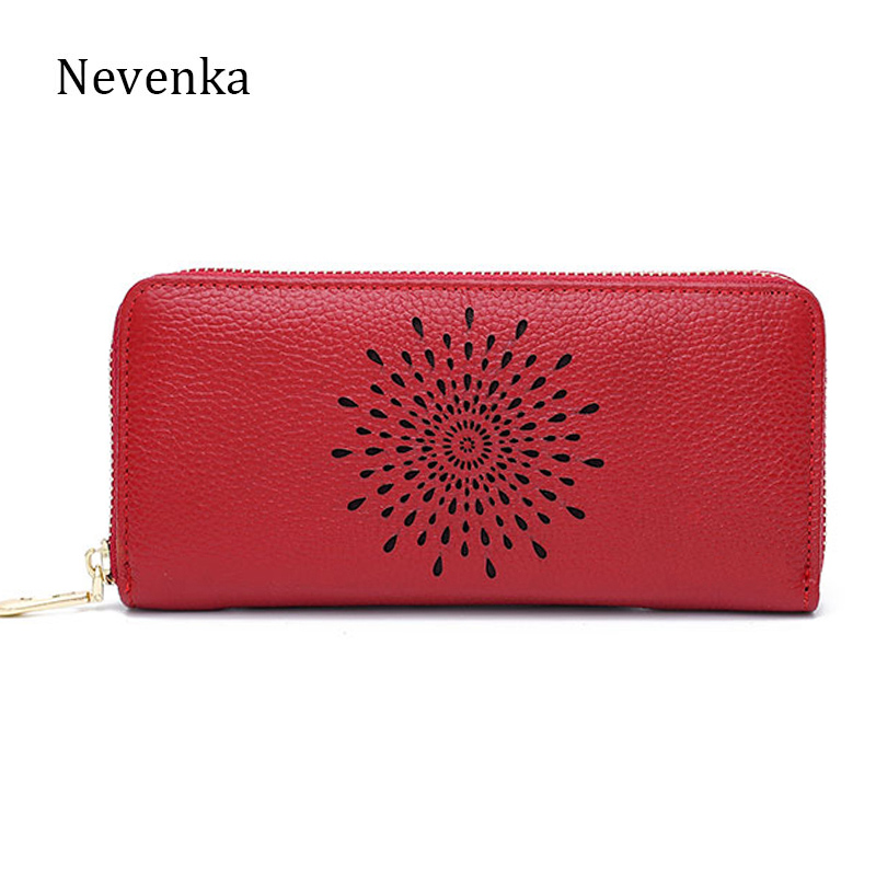 Nevenka 2017 New Design Women Genuine Leather Wallet Quality Lady Long Fashion Purse Zipper Standard Wallets Brand Casual Bag simline fashion genuine leather real cowhide women lady short slim wallet wallets purse card holder zipper coin pocket ladies